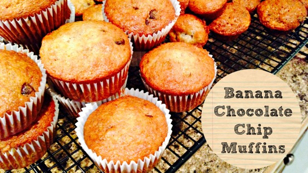 Banana Chocolate Chip Muffins - Merry About Town