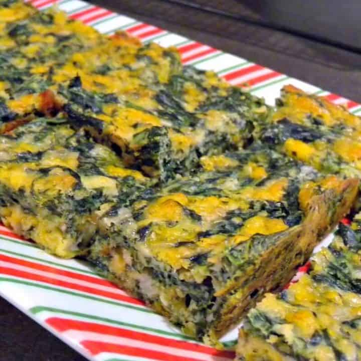 Spinach Cheese Quiche Squares