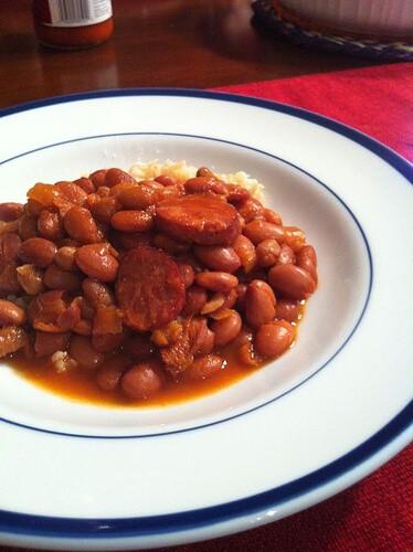 Tangy CrockPot Pinto Beans Bonanza