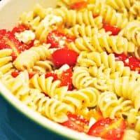 Lemony Pasta Salad with Grape Tomatoes and Feta