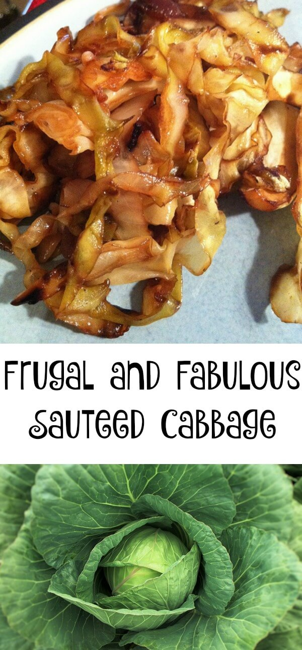 Frugal and fabulous sauteed cabbage
