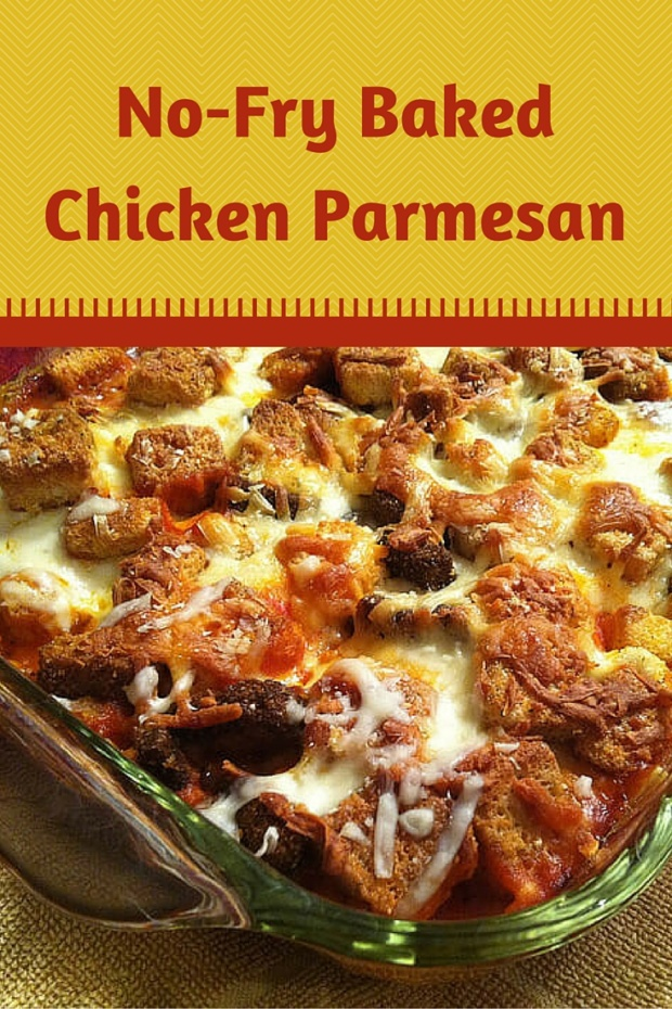 No-Fry Baked Chicken Parmesan