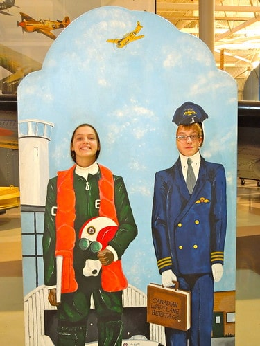 Will and Nicole at the Canadian Warplane Museum