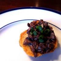 Tuscan Mushroom Crostini