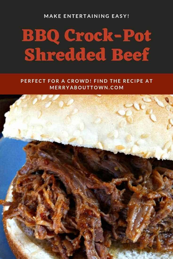 Make entertaining easy with bbq crock pot shredded beef