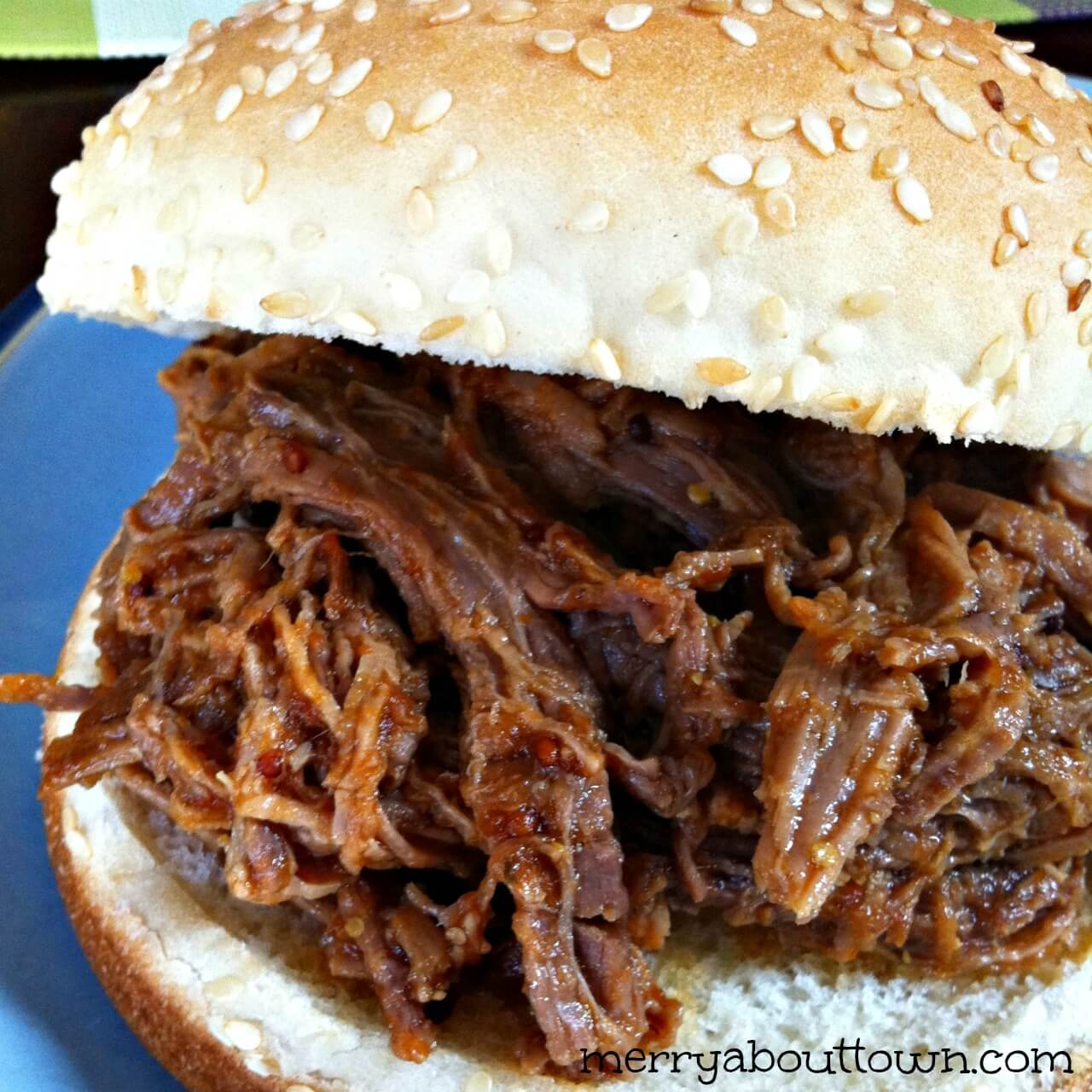 Slow Cooker BBQ Shredded Beef