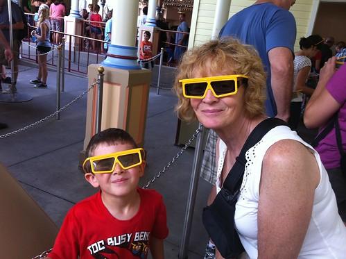 Evan and Nana at Disneyland