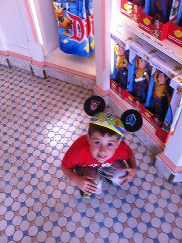 Evan at Disneyland
