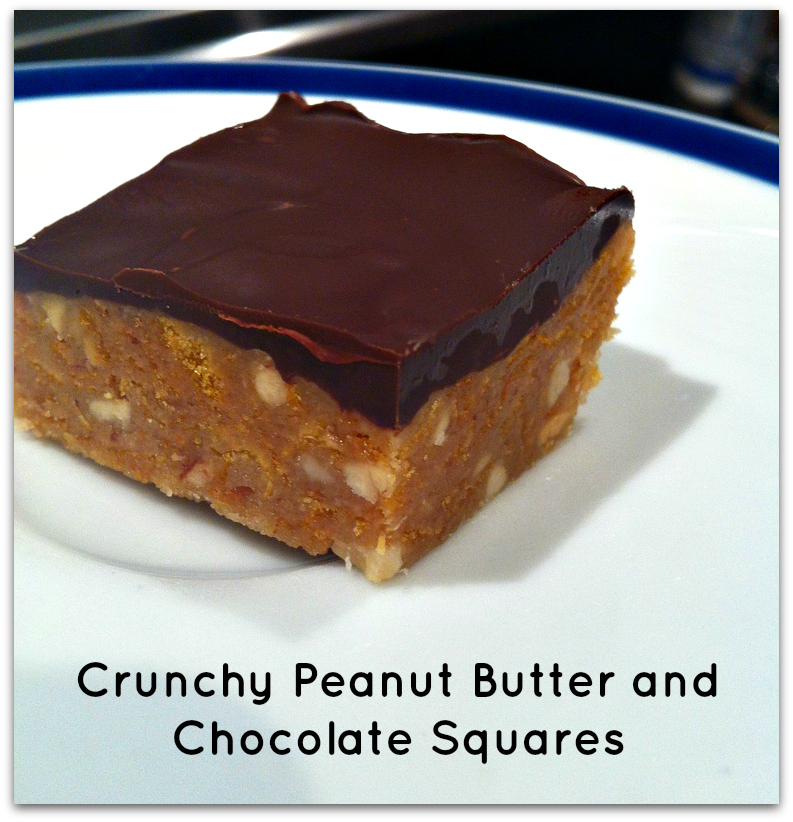 No Bake Peanut Butter and Chocolate Squares - Merry About Town