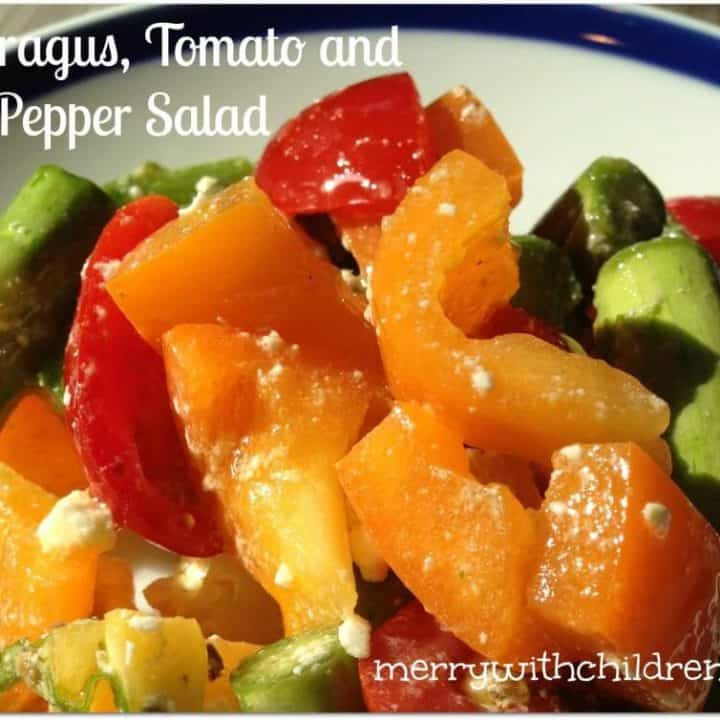 Asparagus, Tomato and Bell Pepper Salad