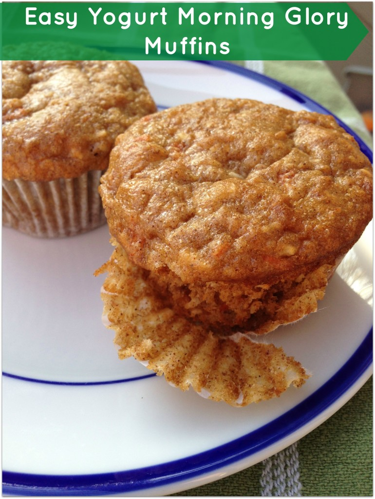 Easy Yogurt Morning Glory Muffins
