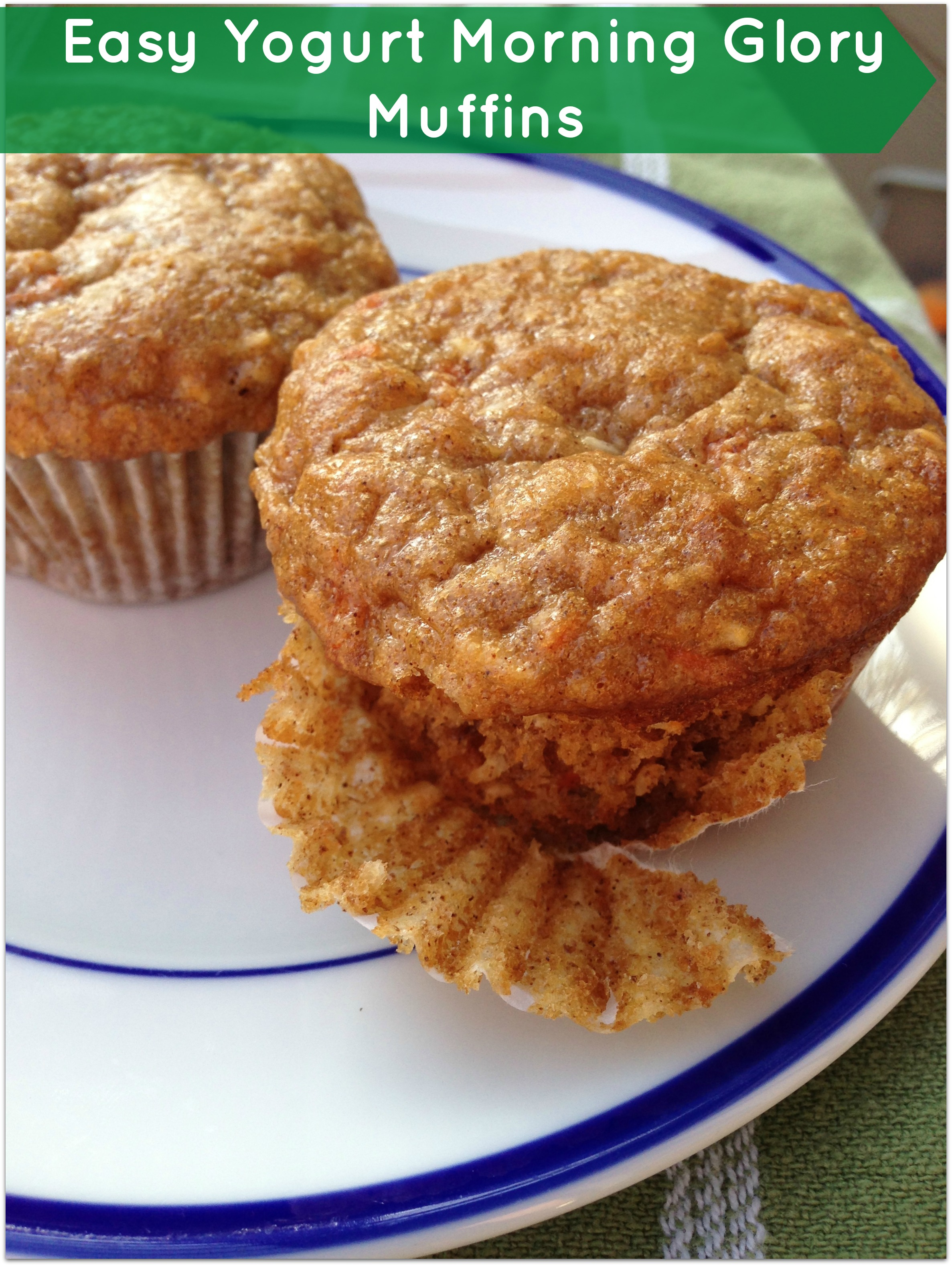Easy Greek Yogurt Morning Glory Muffins - Merry About Town