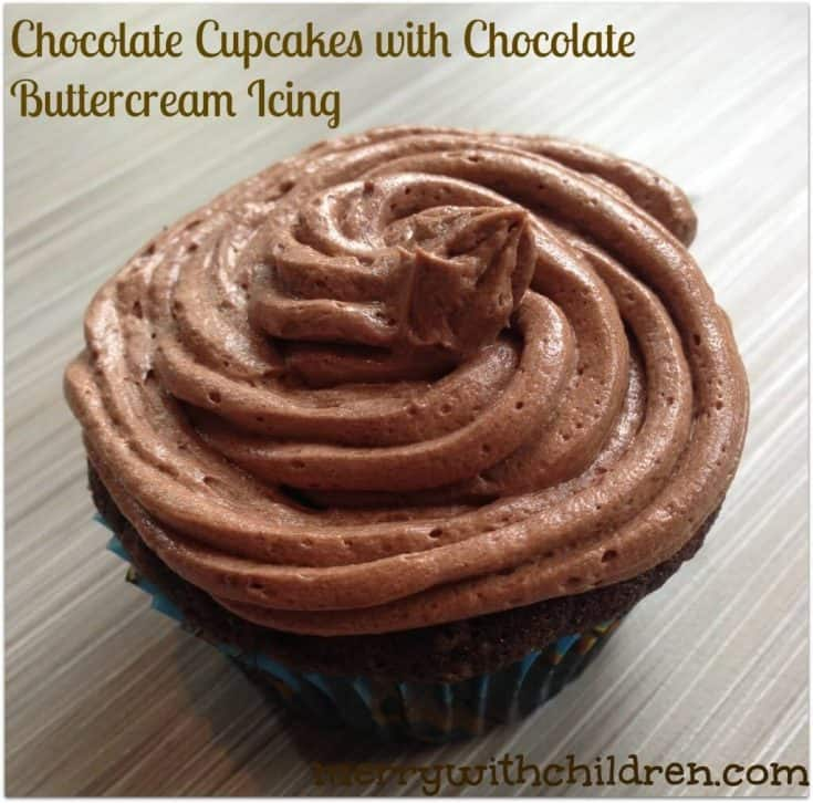 Homemade Chocolate Cupcakes with Chocolate Icing
