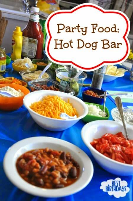 Party food hot dog bar merry about town for Bash bash food bar vodice