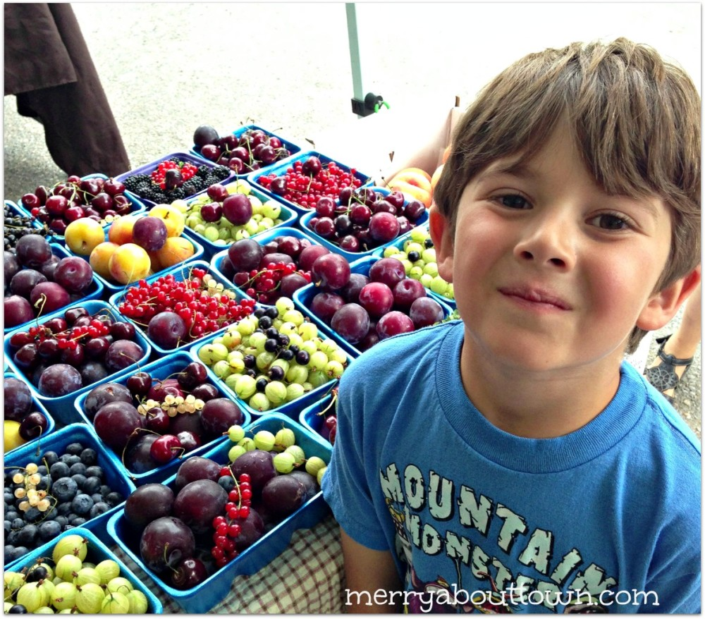 Evan Exploring the Farmer's Market MAT