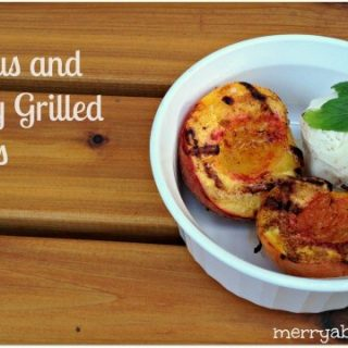 Delicious And Healthy Grilled Peaches