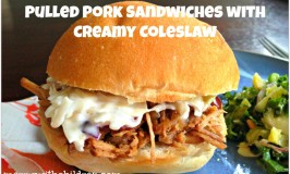 CrockPot Pulled Pork with Creamy Coleslaw