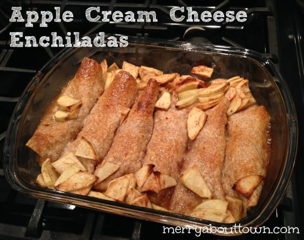Apple Cream Cheese Enchiladas