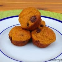 Light and Healthy Pumpkin Chocolate Chip Mini Muffins