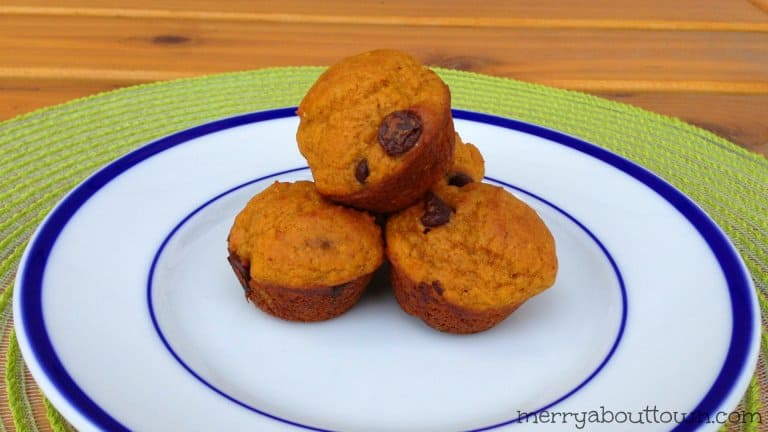 Pumpkin Chocolate Chip Muffins That are Light and Delicious!