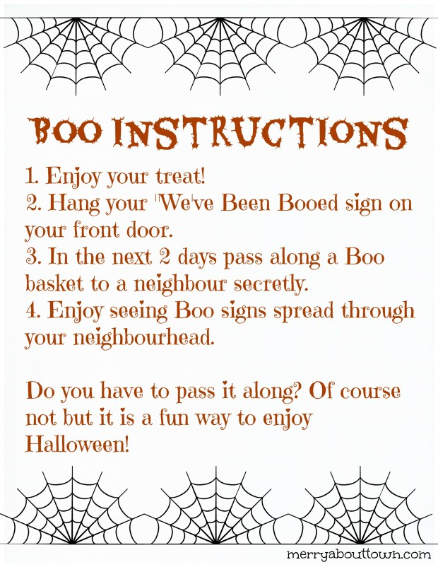 Boo Instructions