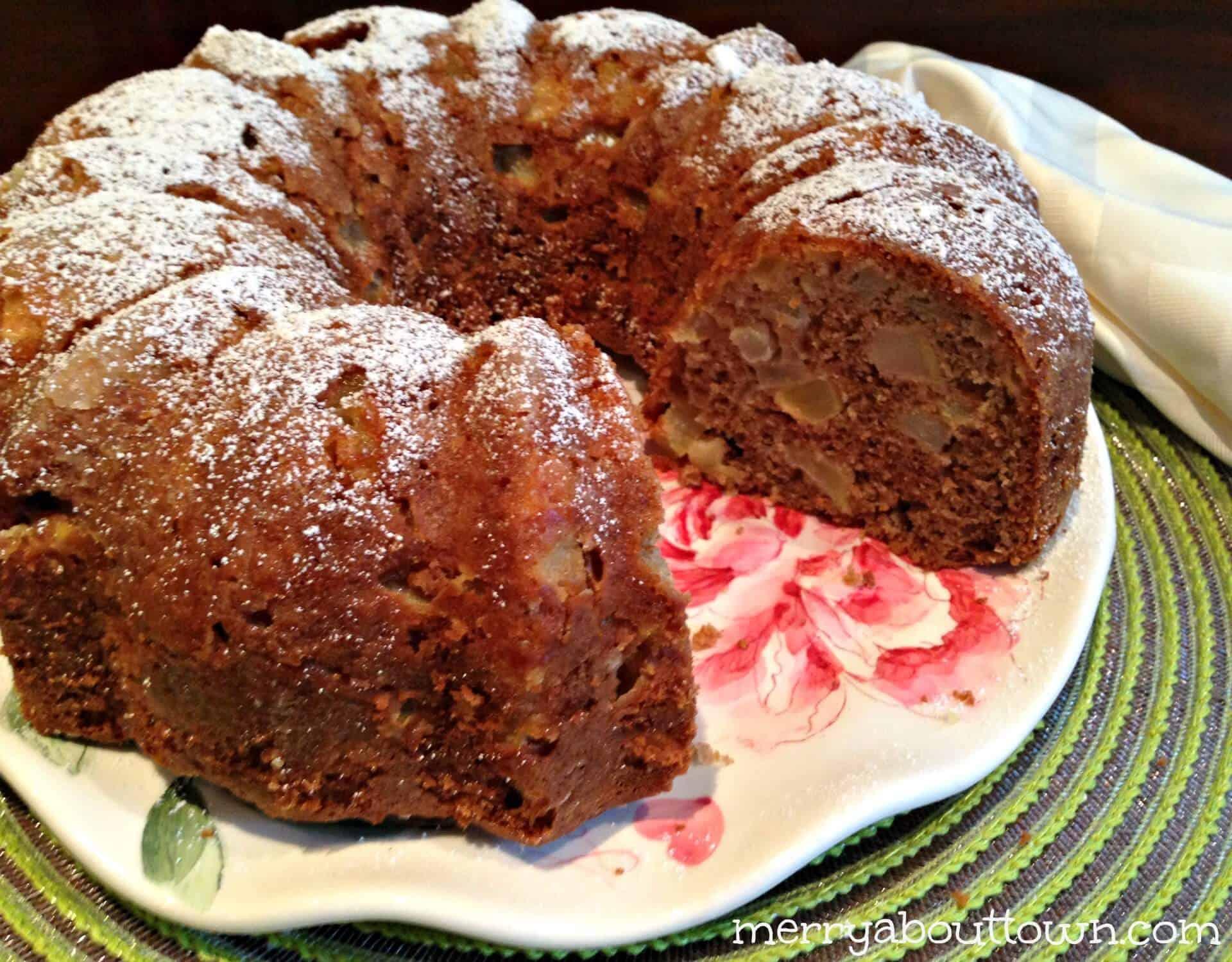 Pear Apple Spice Bundt Cake