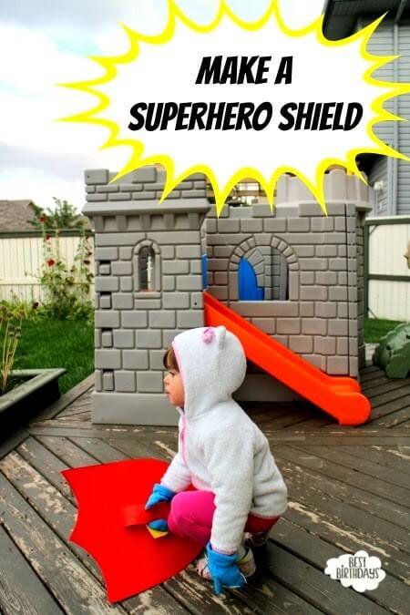 Easy Party Activity: Make a Superhero Shield!