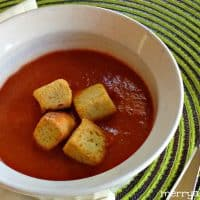 Easy Enough for Lunch Tomato Soup