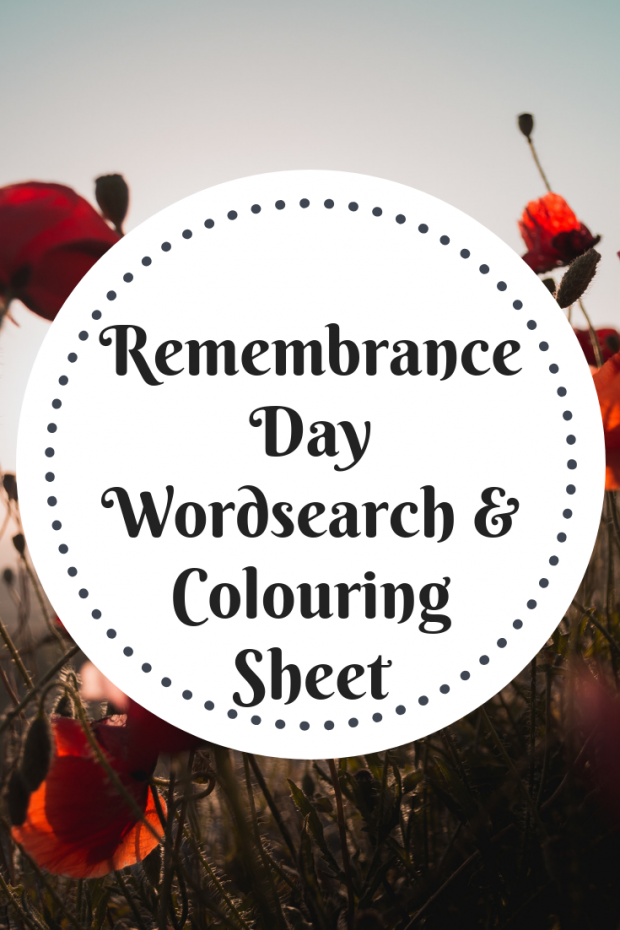 Remembrance Day Worksheets - Wordsearch Printable