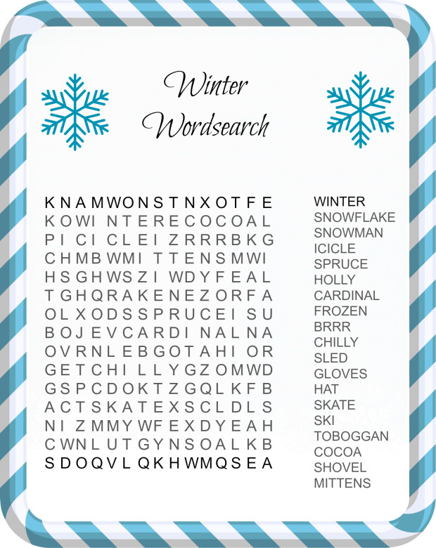... Festive Christmas Word Search Printables for Kids! - Merry About Town