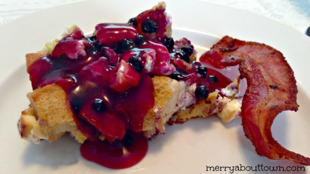 #1 Recipe on MerryAboutTown in 2013 - Overnight Blueberry French Toast