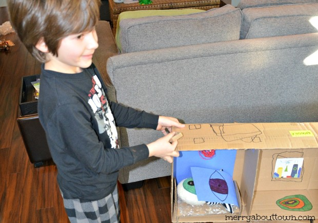 Cardboard Crafts - Building a Stuffie House 2