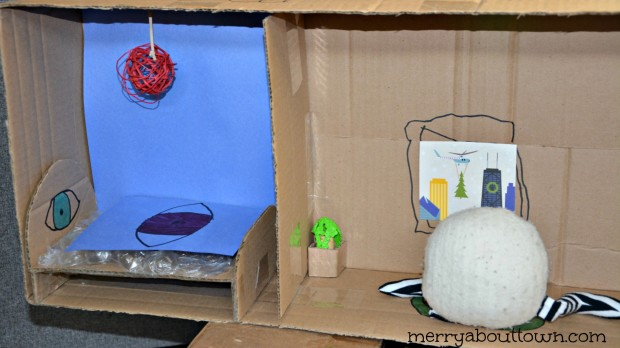Cardboard Crafts - Building a Stuffie House