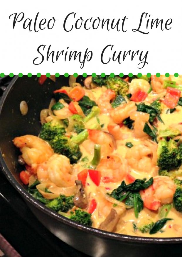 Paleo Coconut Lime Shrimp Curry