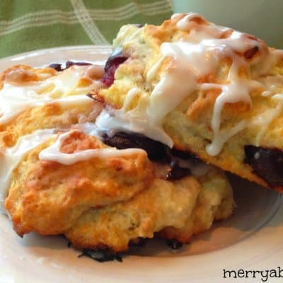 Almond and Cherry Scones