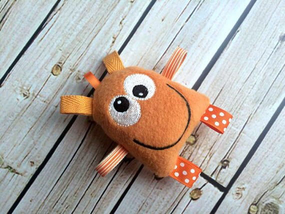 Orange Monster Tag Toy