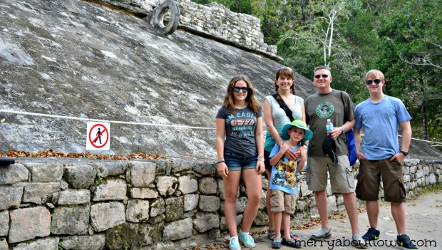 Our Family Visiting Coba