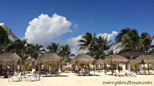 The beach palapas - MerryAboutTown