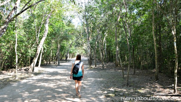 There is a LOT of walking at Coba