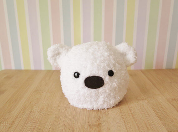 fluffy bear hat