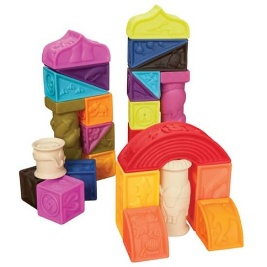best toys for one year olds - chewable blocks
