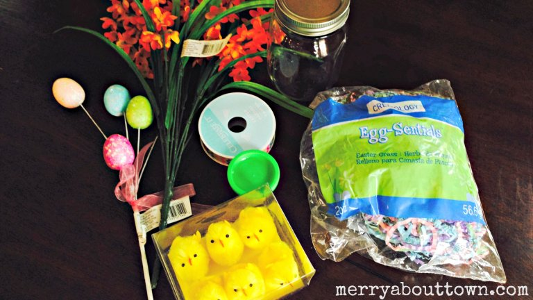 Easy Easter Crafts –  Mason Jar Dioramas