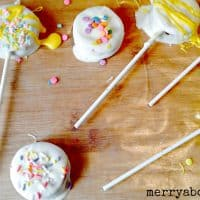 Easy Easter Treats - Dipped Peanut Butter Pops