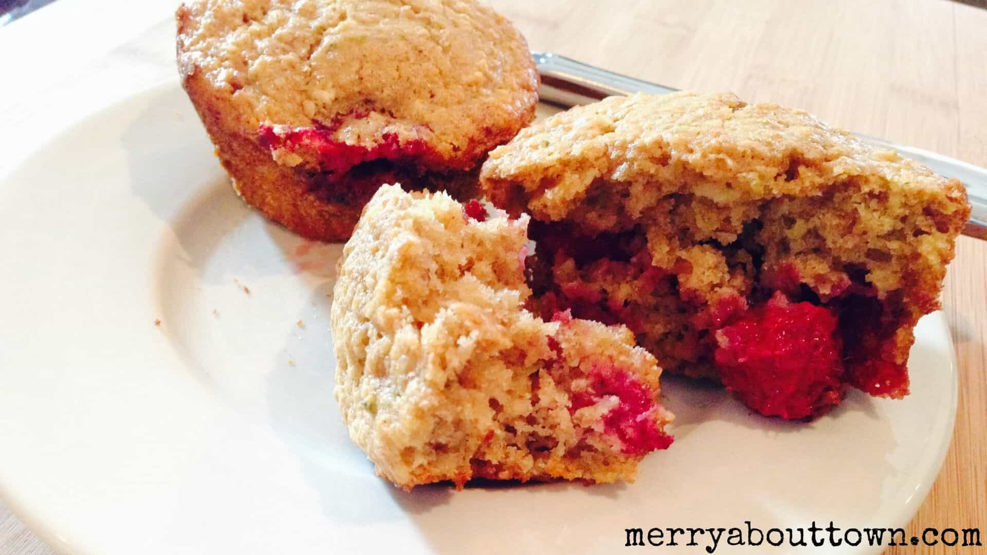 Whole Grain Raspberry Lime Muffins - Merry About Town