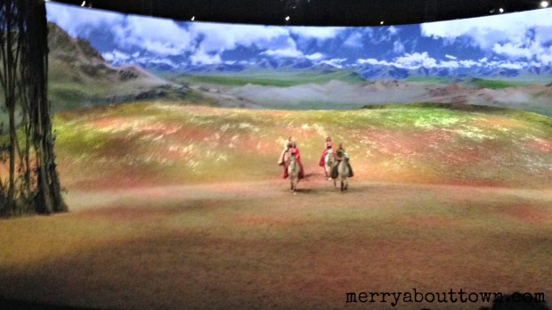 Riders appearing from the distance in Odysseo - Merry About Town.jpg