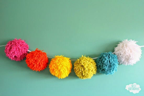 Giant Pom Pom Garland – Easy Party Decorations