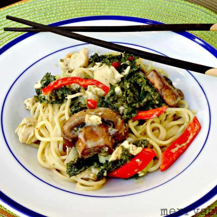 Chicken Green Curry Noodles
