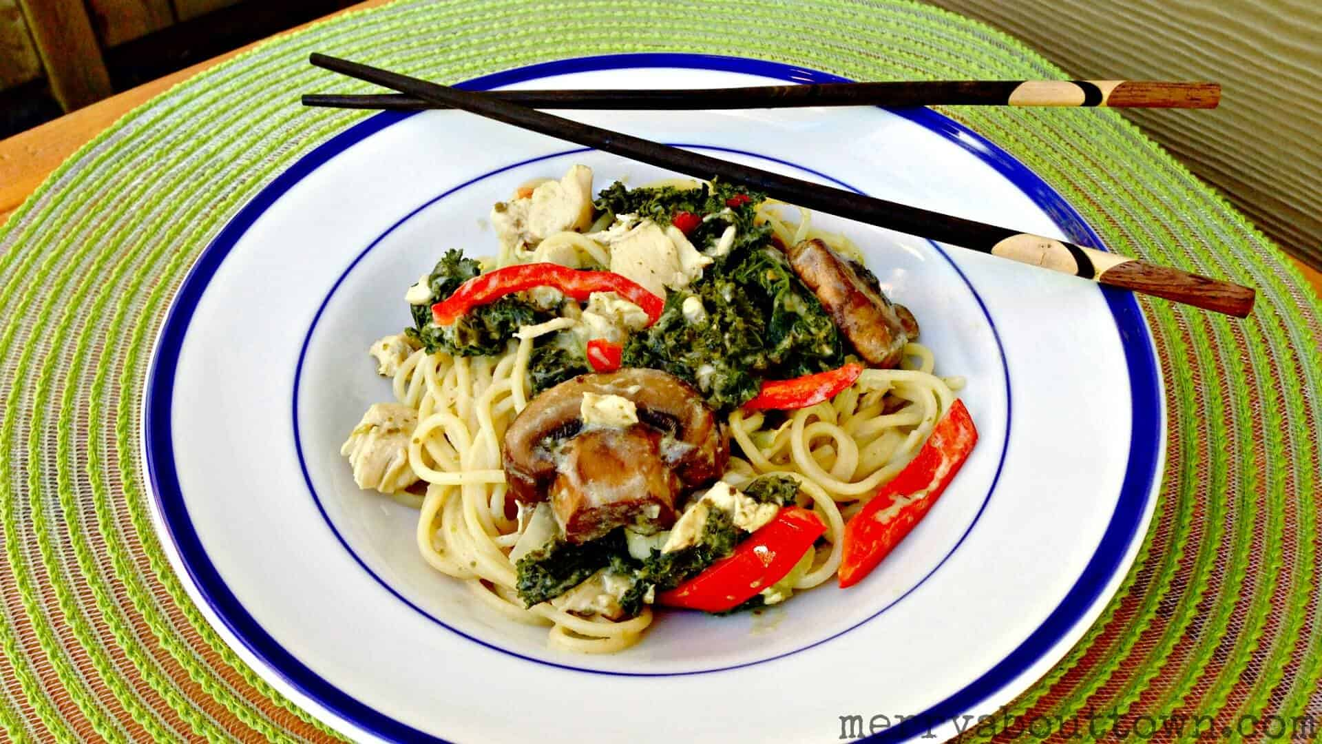 Green Curry Chicken Noodles - Merry About Town