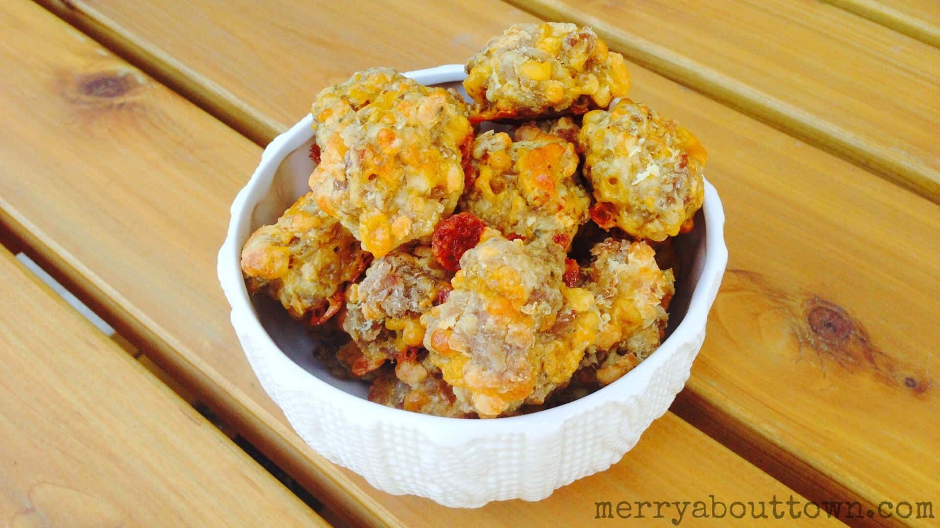 Sausage and Cheddar Balls - Merry About Town