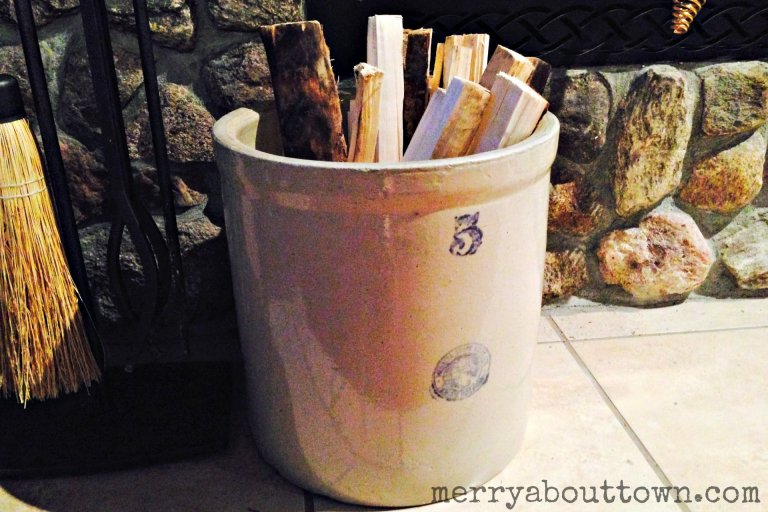 Antique Stoneware Crock - Merry About Town.jpg